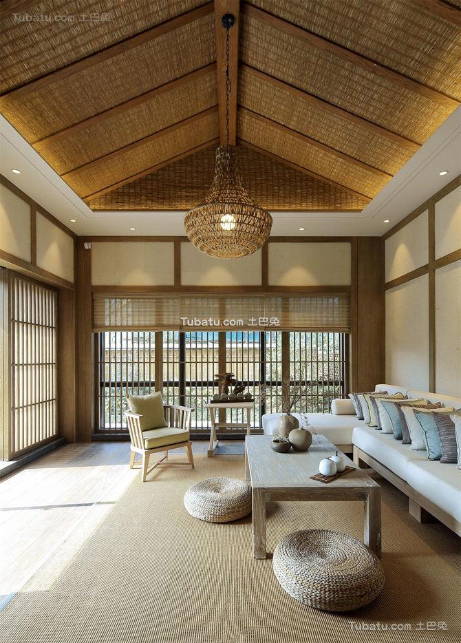日式风格阁楼客厅图片大全
