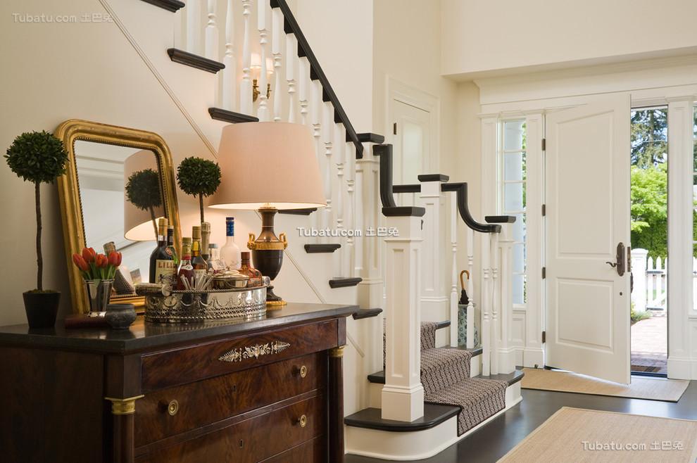 美式复式楼梯效果图大全