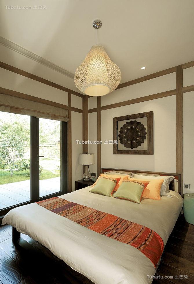 日式风格装修别墅卧室效果图欣赏