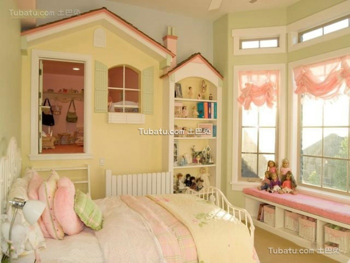 简约时尚卧室飘窗效果图