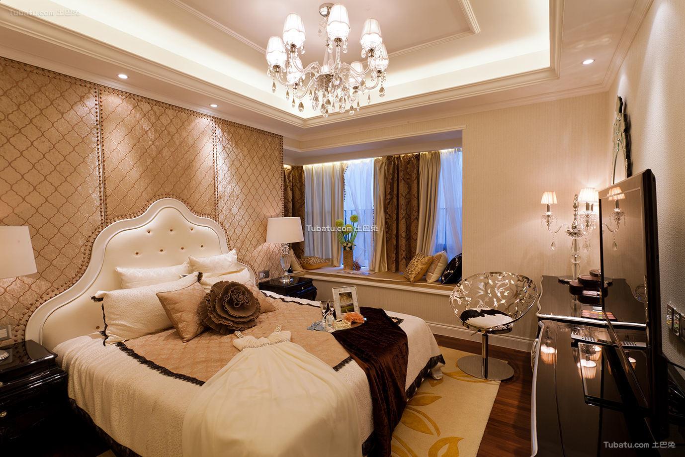 现代古典风格时尚卧室图片