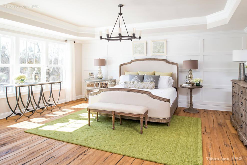 简约美式设计卧室效果图