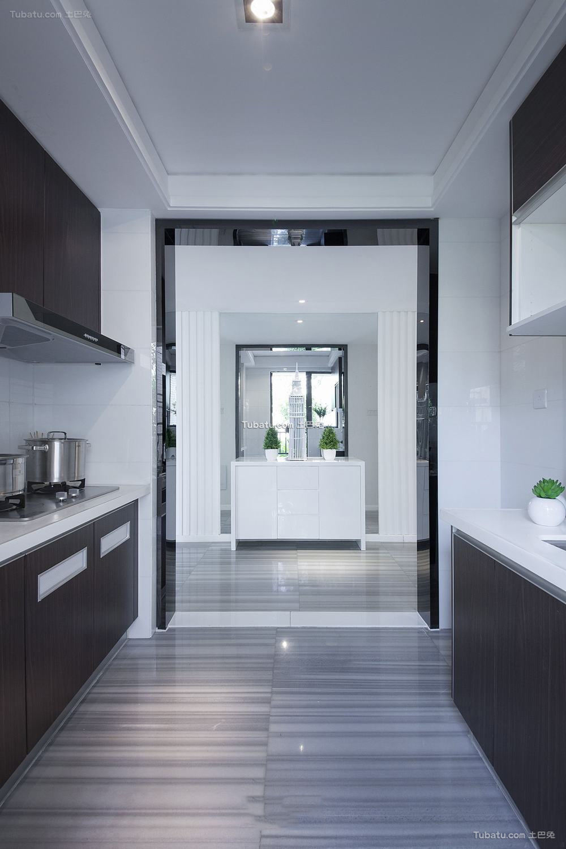 最新简约式家装装修厨房垭口效果图