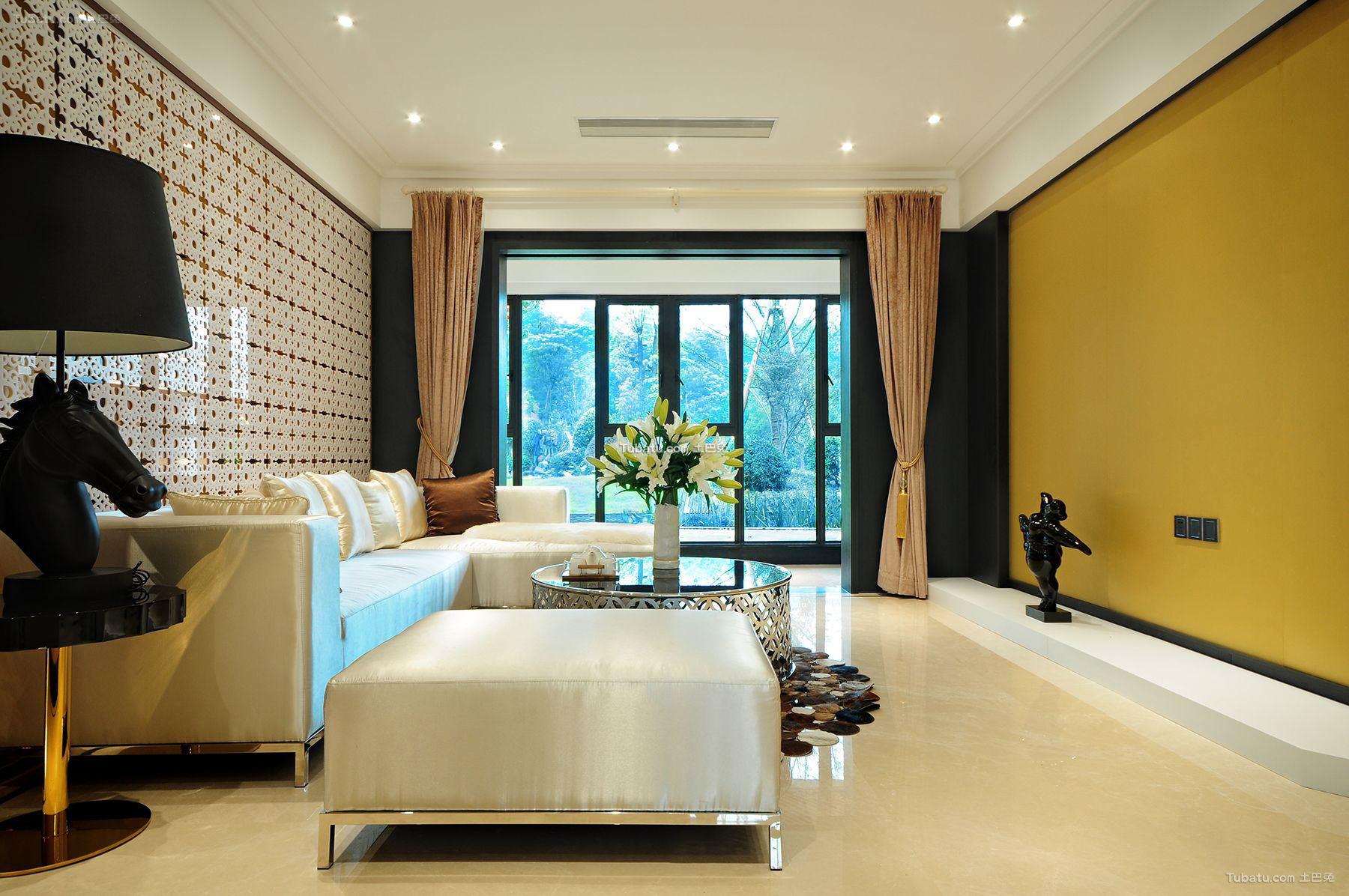 98平米东南亚风格两室两厅户型室内设计