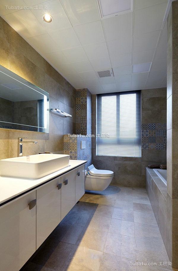 简约风格简单装修卫生间效果图