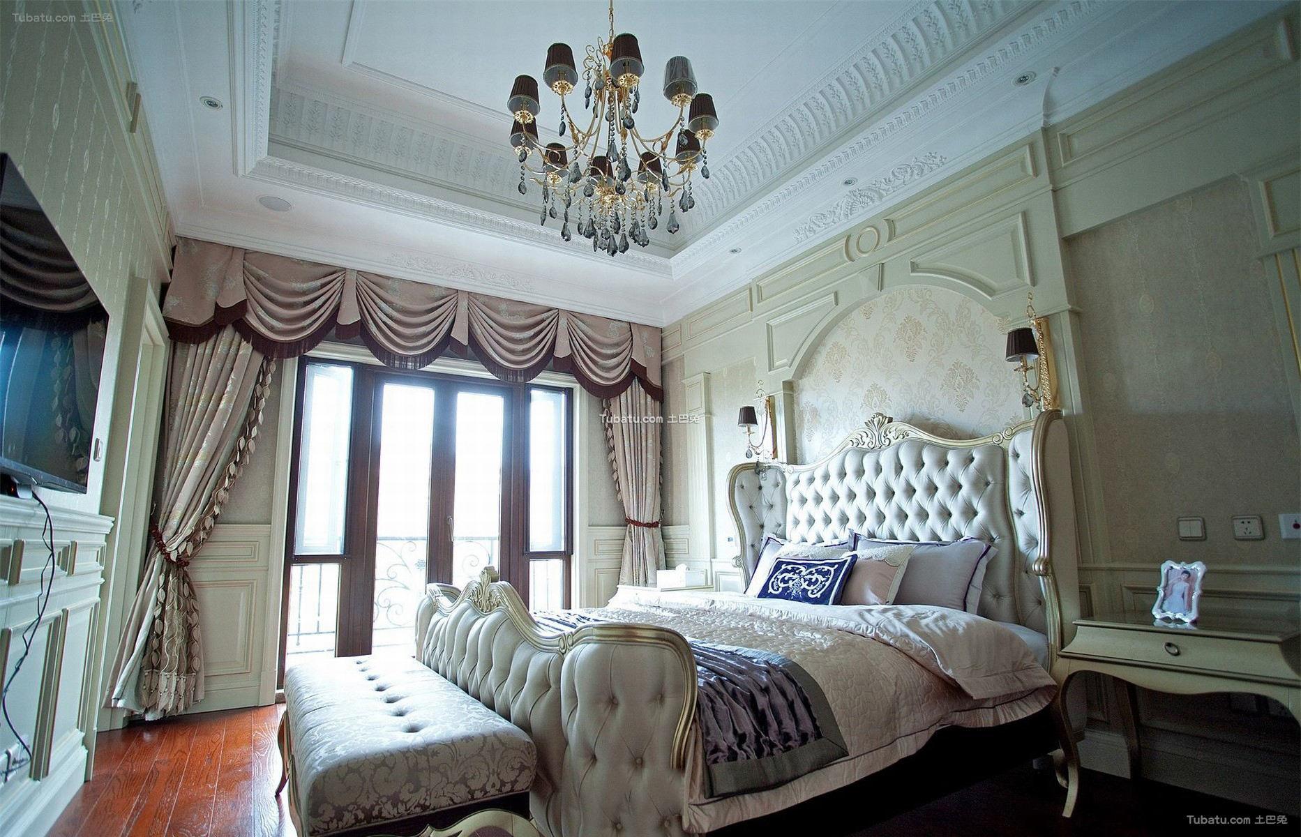 白色欧式家居卧室图片大全