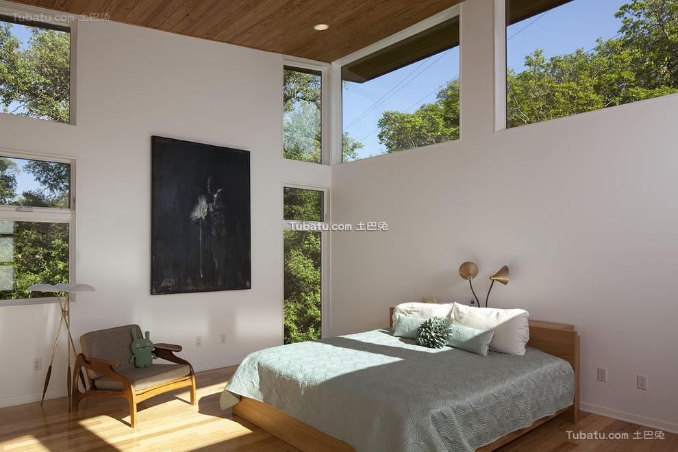 简约设计装修卧室窗户效果图