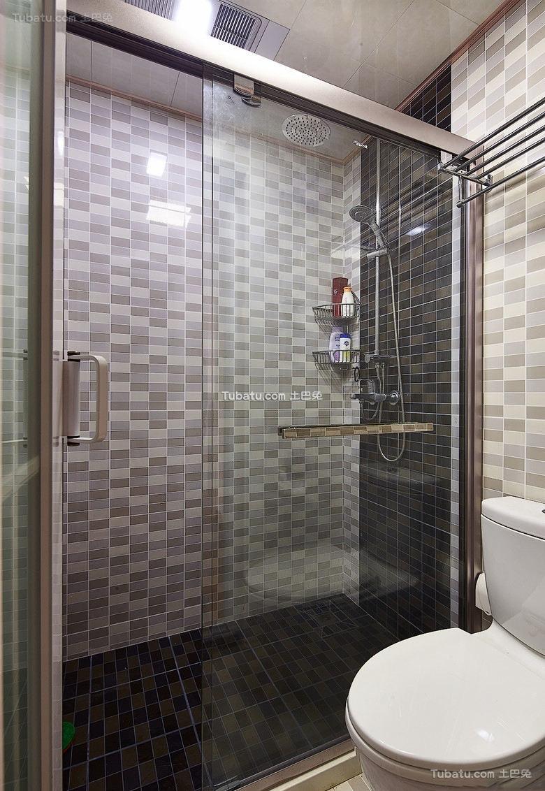 宜家灰色调玻璃浴室装修图片大全