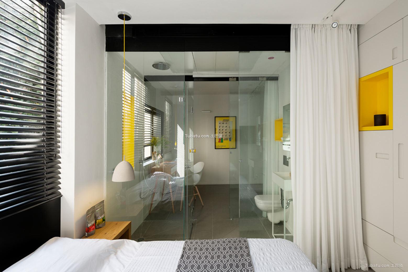 简约北欧设计卧室窗帘效果图