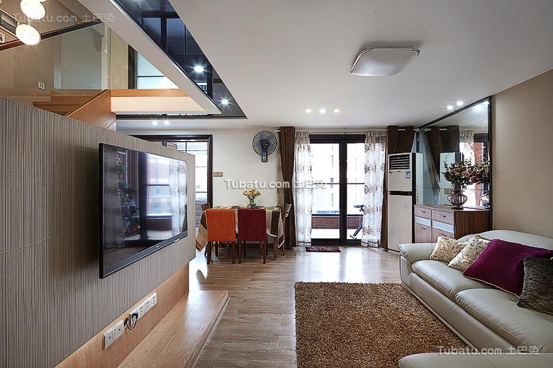 最新简约家庭小客厅布置图片