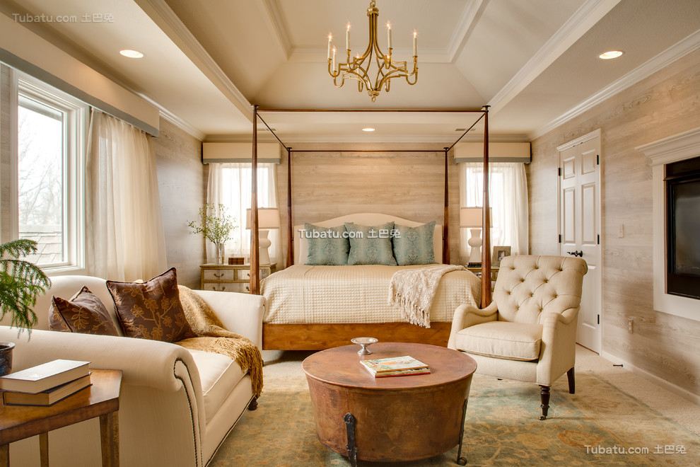 北欧风格设计时尚卧室图片