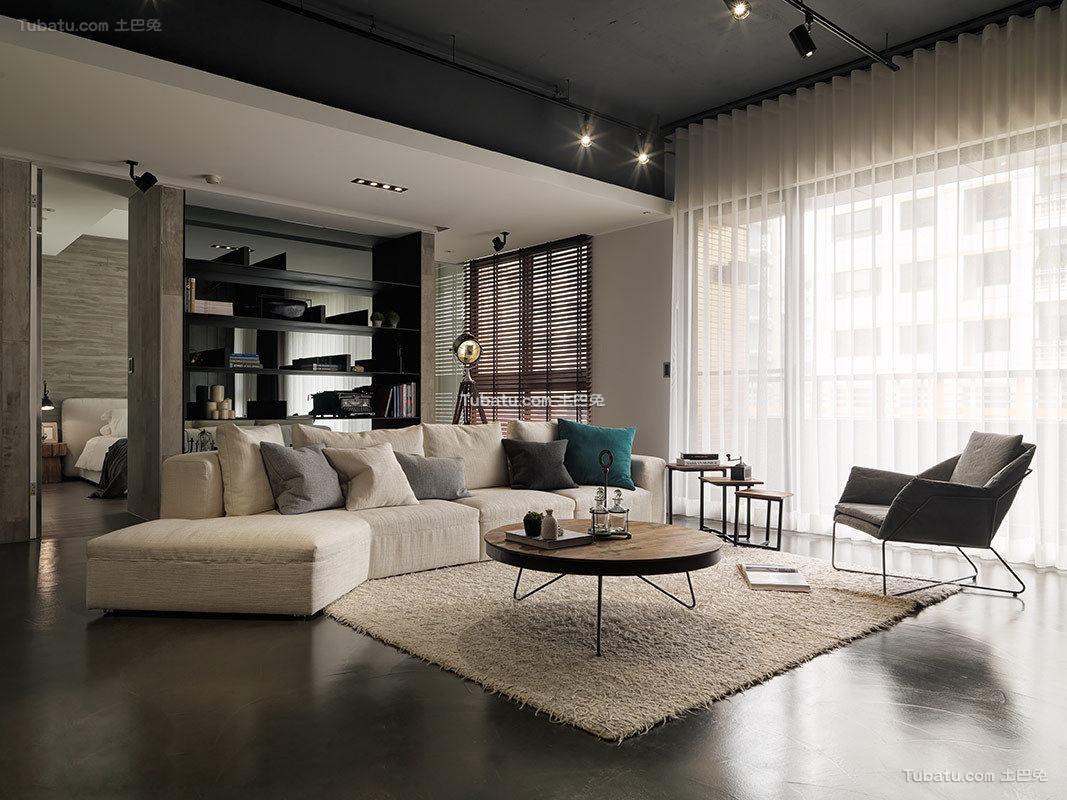 现代风格120平米四室两厅设计效果图