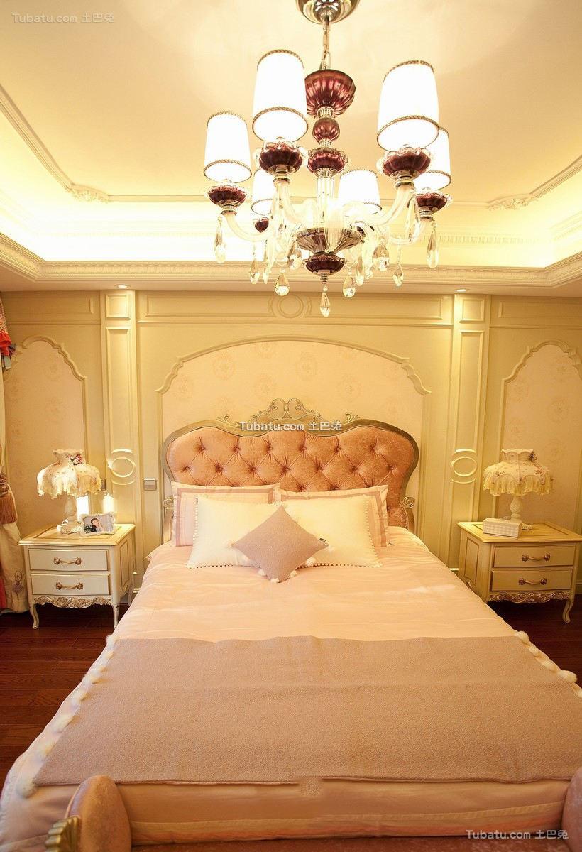 欧式风格粉色女生卧室图片