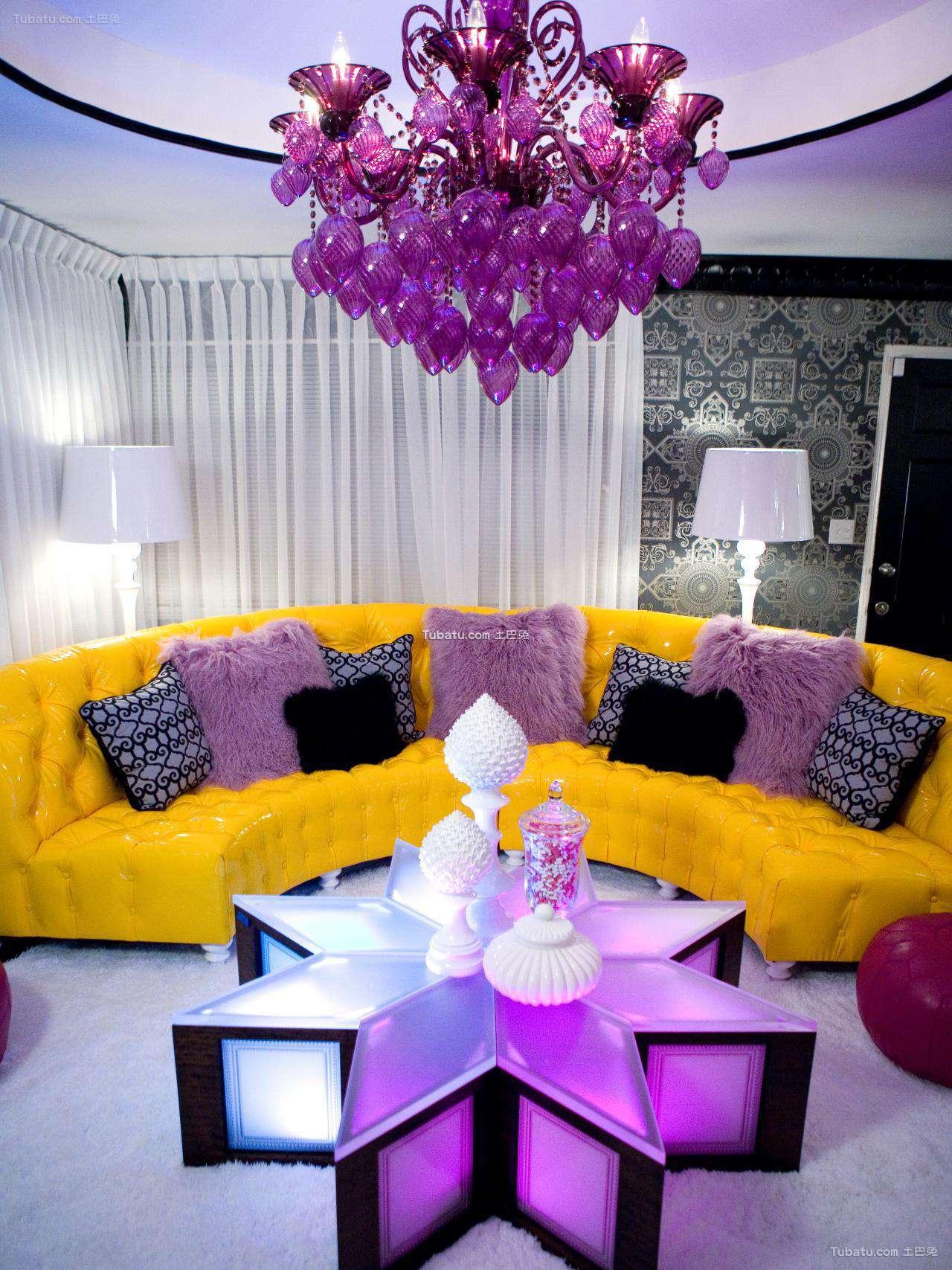 混搭风格设计客厅图片