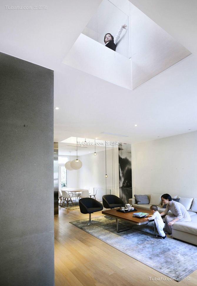 最新简约装修房屋客厅图片