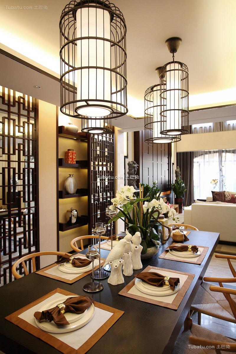 中式家装餐厅图片大全