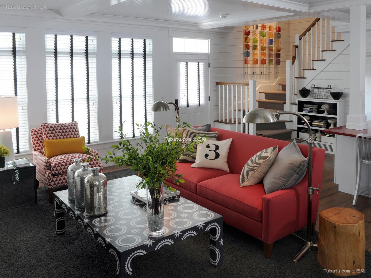 现代风格小客厅效果图