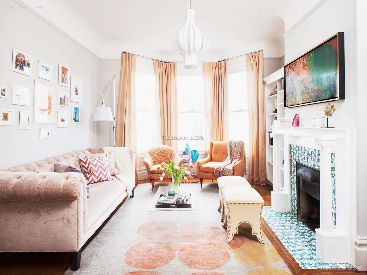 美式设计室内客厅图片欣赏大全