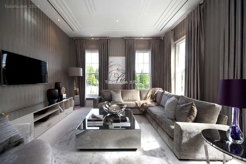 北欧现代风格客厅窗帘图片大全