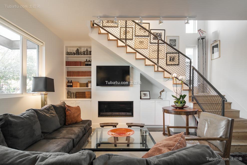 简约装修设计楼梯效果图欣赏