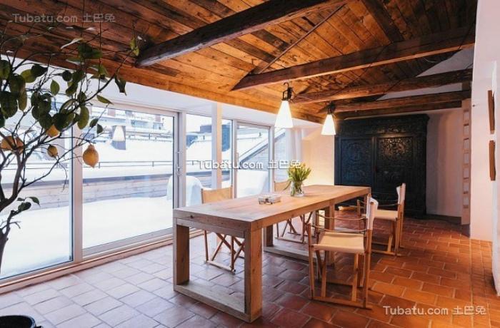 现代日式风格餐厅吊顶图片