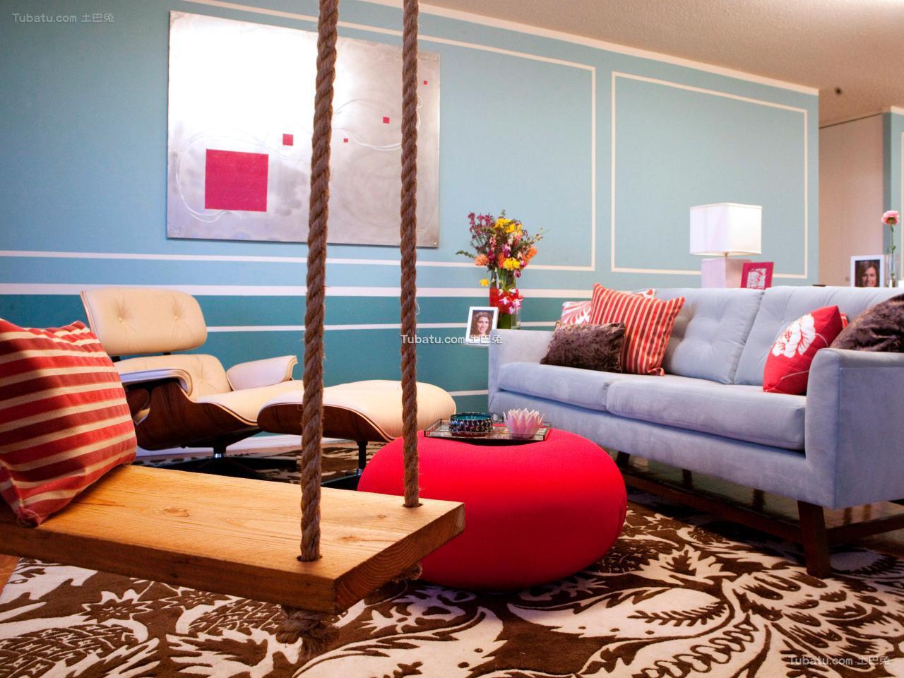 混搭风格室内设计客厅效果图