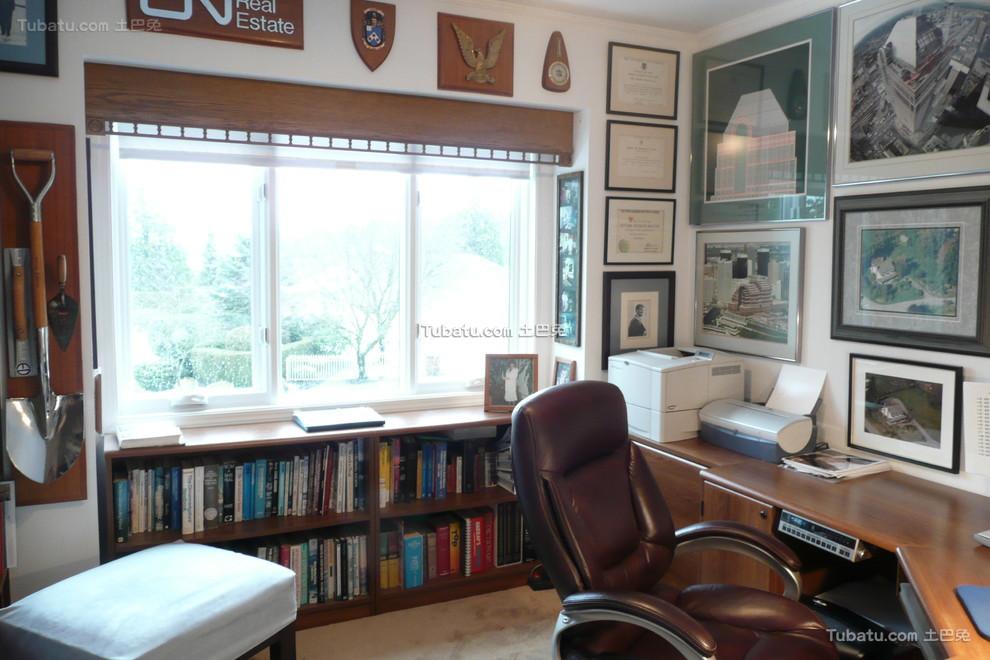 美式装修设计书房窗户效果图