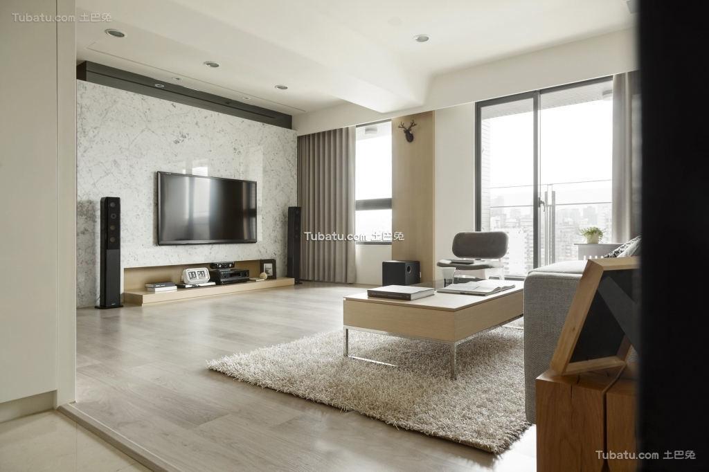 现代装修120平米三室两厅图片大全
