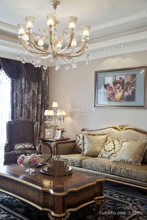 欧式古典风格客厅图片欣赏