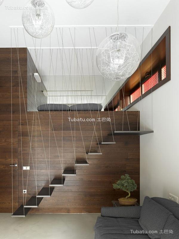简约复式住房楼梯设计图片