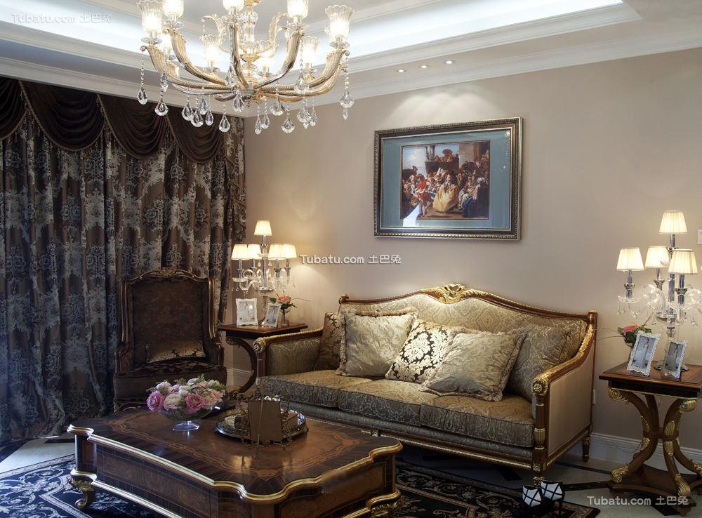 欧式古典风格两室两厅效果图大全