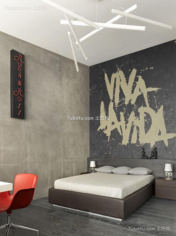 简约风格卧室灰色调装修效果图