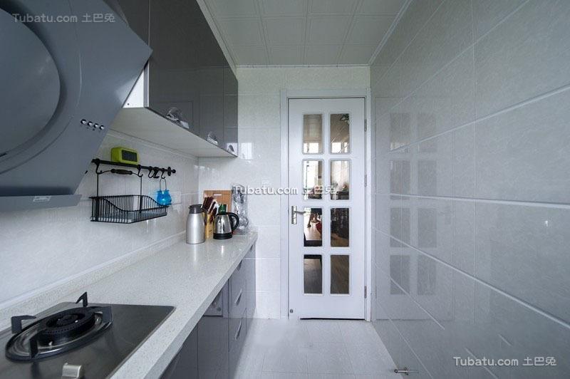 白色简约风格住房厨房图片大全