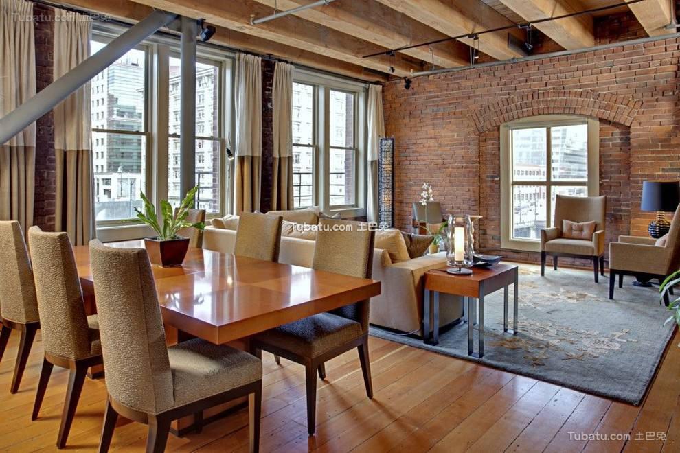 美式风格装修客厅窗帘图片欣赏