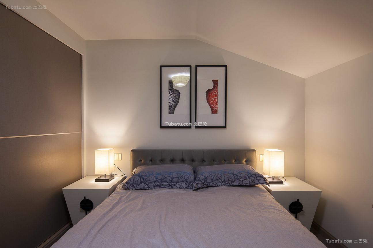 现代风格小卧室床头灯具图片