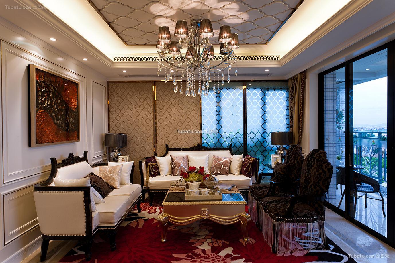 新古典风格四室两厅装修图片欣赏大全