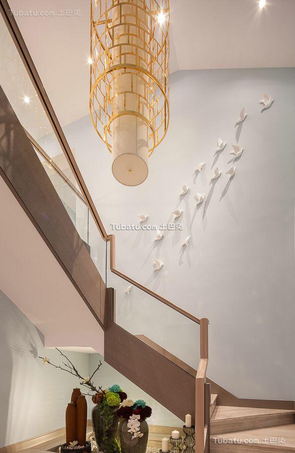 现代复式楼梯装修图片大全
