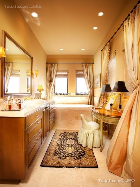 美式风格时尚卫生间窗帘效果图大全