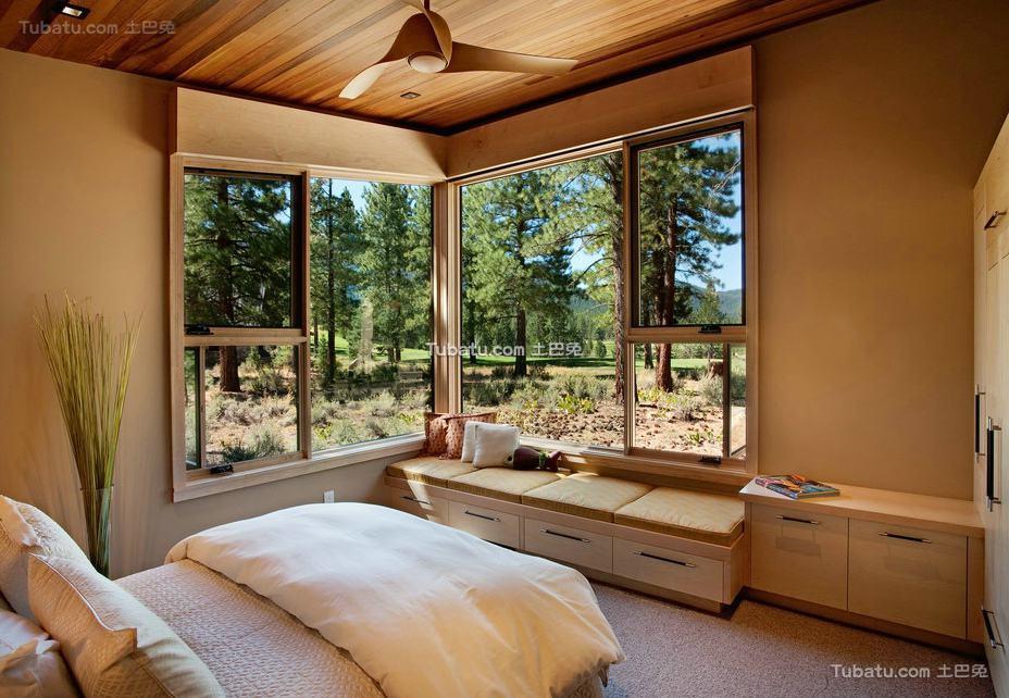 美式装修设计卧室窗户图片欣赏