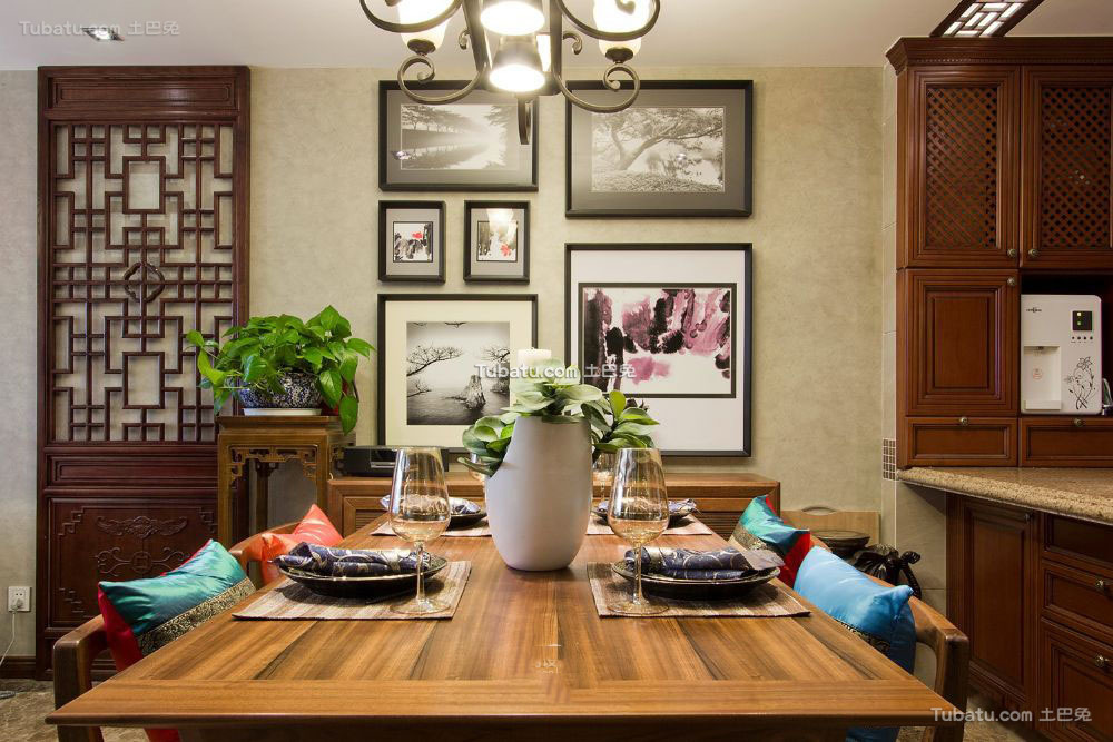 中式东南亚风格餐厅装修效果图欣赏