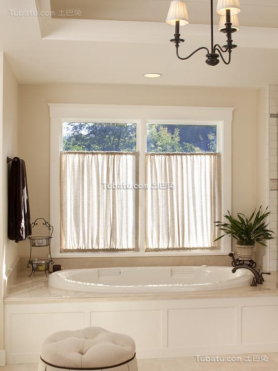 简约设计卫生间窗帘图片欣赏