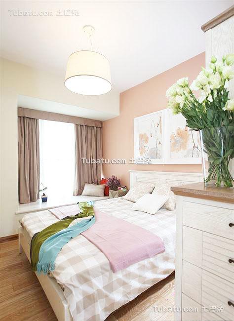 简约现代装修设计卧室飘窗效果图欣赏