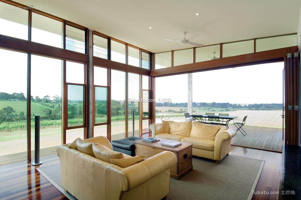 现代装修设计客厅窗户效果图大全