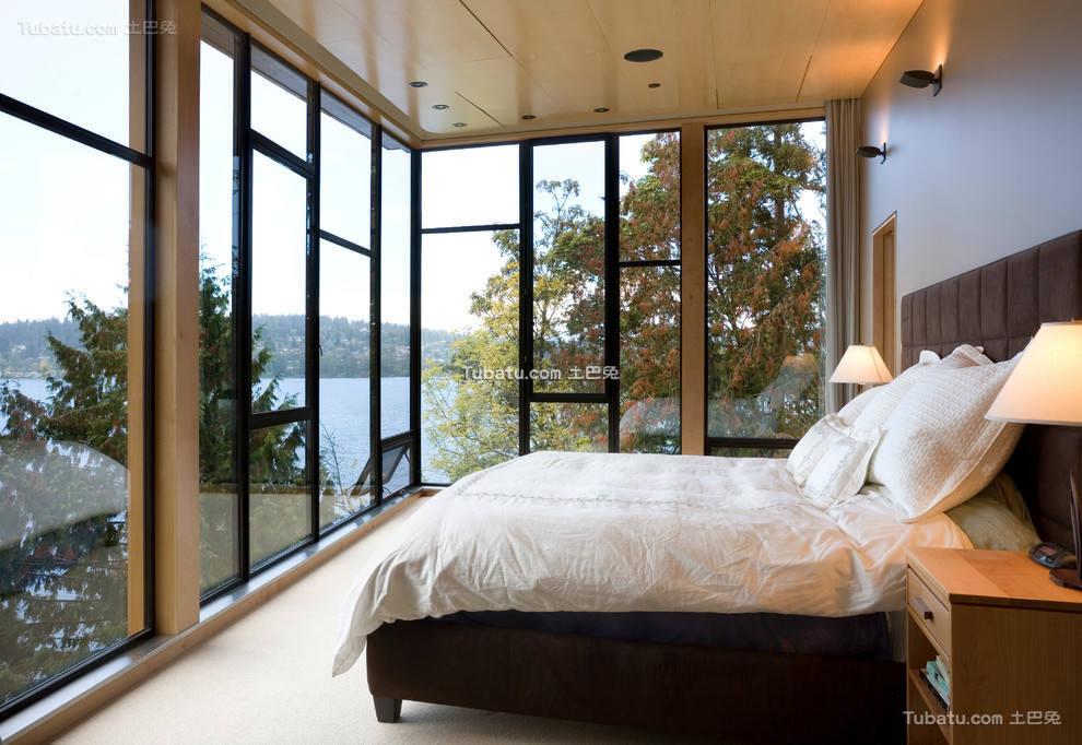 现代风格时尚卧室窗户图片欣赏大全