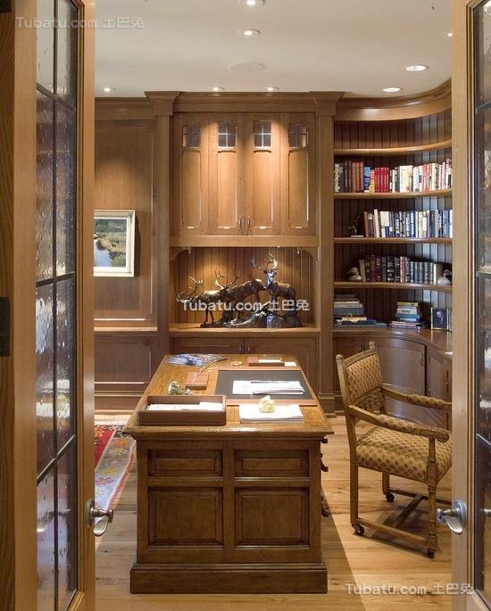 美式装修设计书房图片大全2015