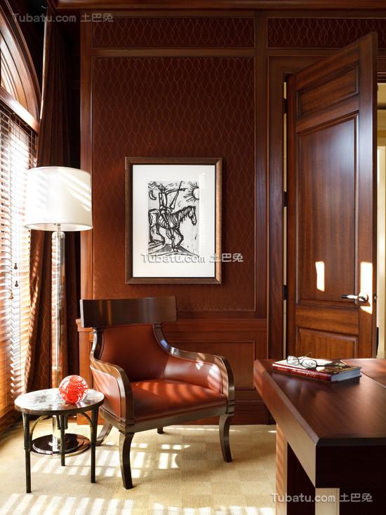 美式风格装修设计书房图片欣赏大全