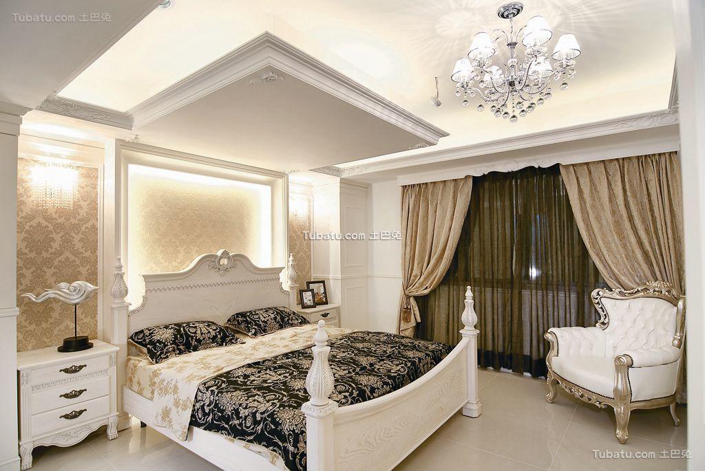 欧式风格精装卧室效果图欣赏