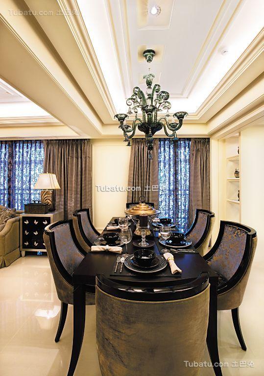 古典欧式风格餐厅效果图欣赏
