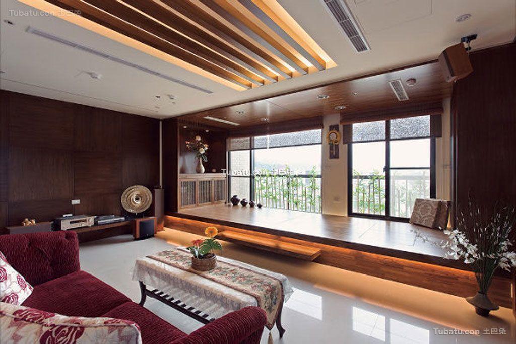 房子室内中式家装吊顶效果图