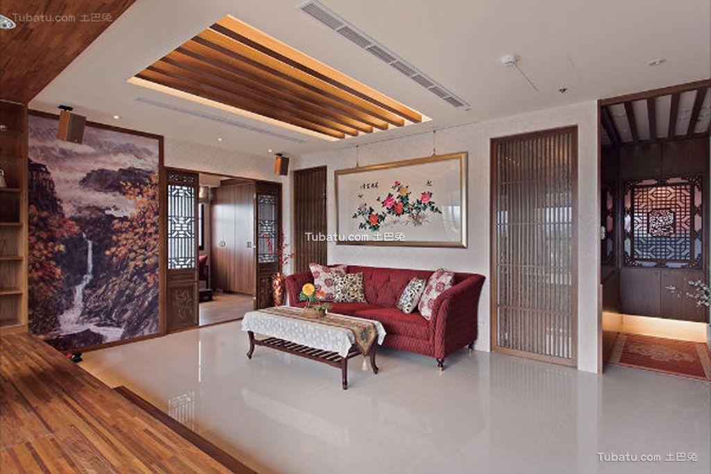 室内传统中式客厅装修效果图